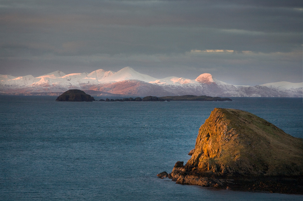 The Outer Hebrides from Duntulm