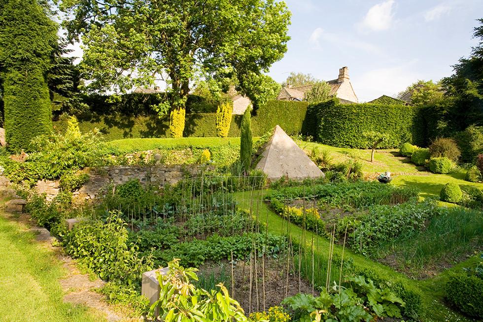 Vegetable Garden and Pyramid, Clearbeck Garden