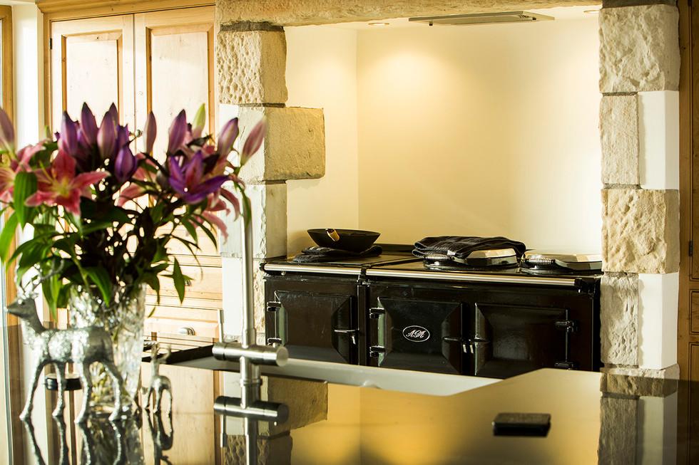 Aga range, contemporary kitchen