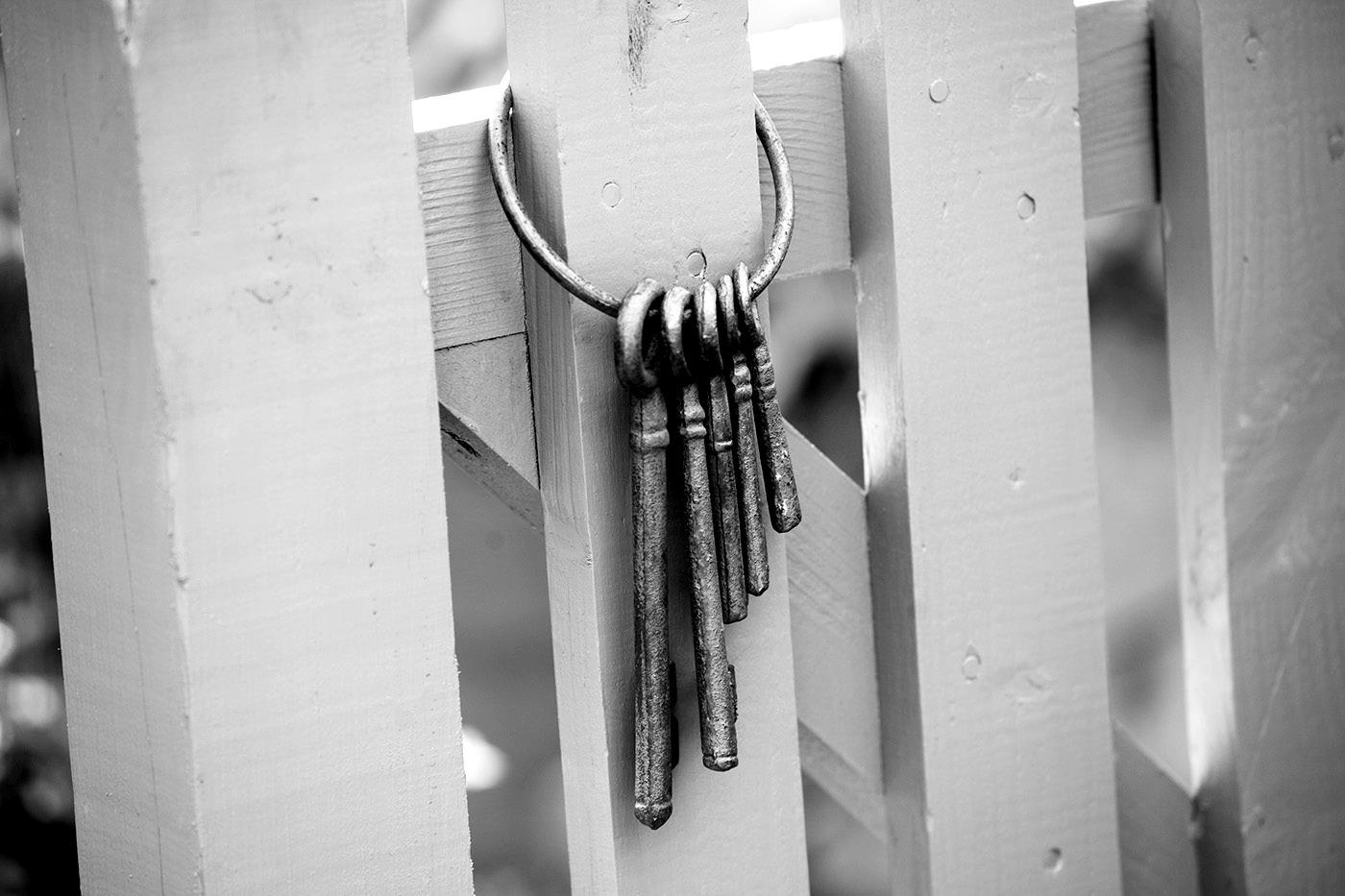 Keys on a gate