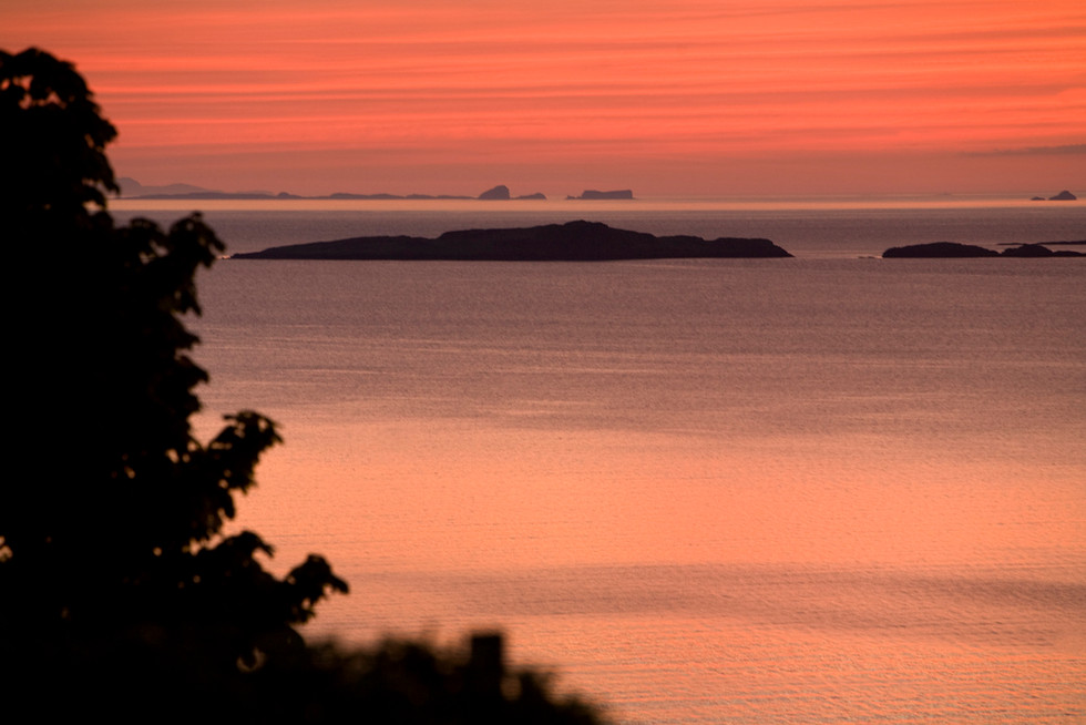 The Ascrib Island and Shian Islands at dawn