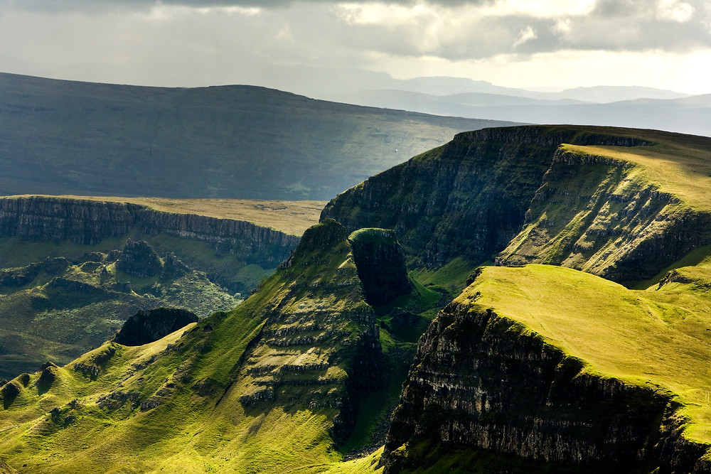 The incredible landslip landscape of  Trotternish, Isle of Skye