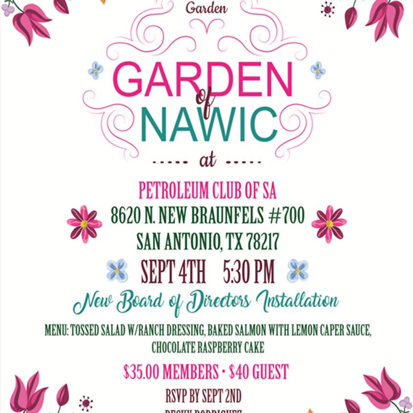 September Meeting - Garden of NAWIC - New Board Installation