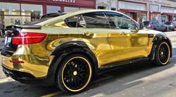 עיטוף רכב - ויניל מבריק זהב