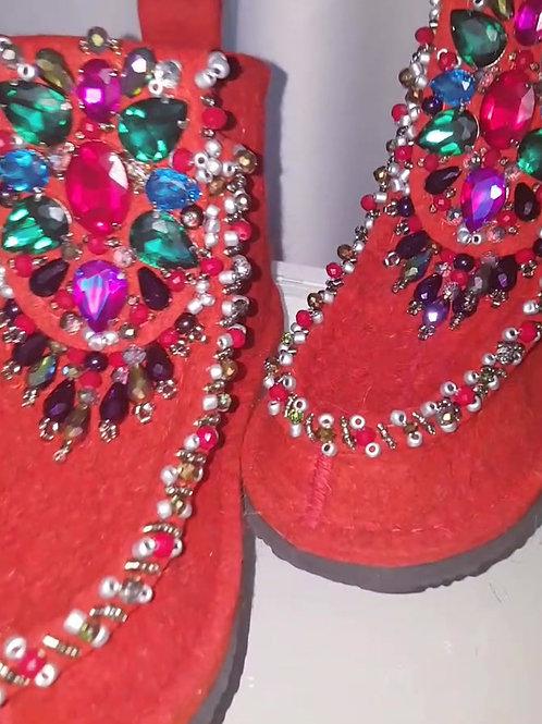 Schuhe aus Filz