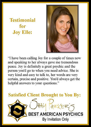 Joy Elle Best American Psychics