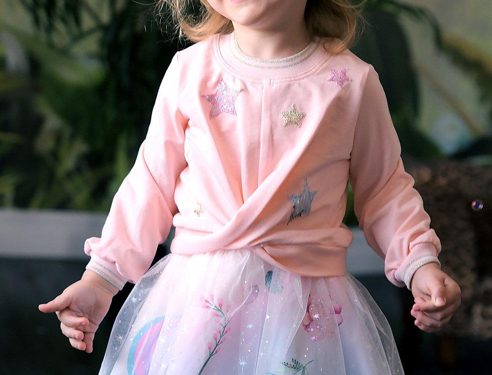 Twist-Front Embellished Dress