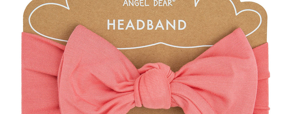 Solid Basics Pink Knotted Headband