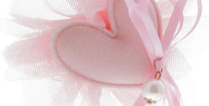 Heart + Pearl Tulle Clip