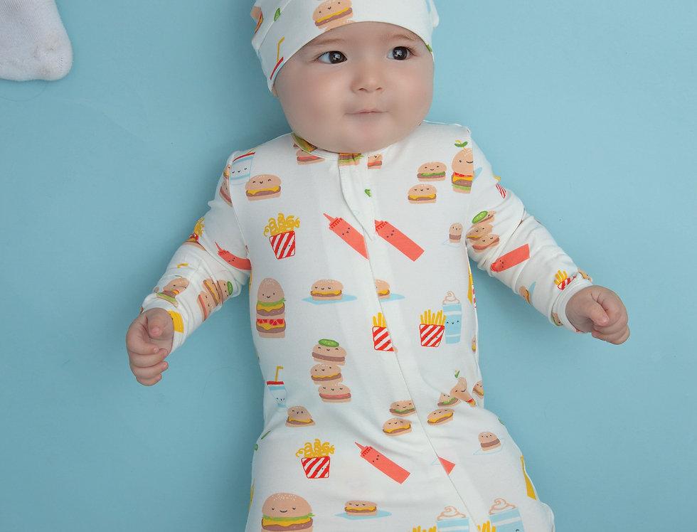 Burger Joint Zip Footie