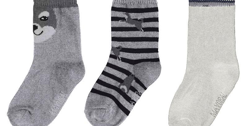 """""""Shiba"""" Socks 3-Pack"""