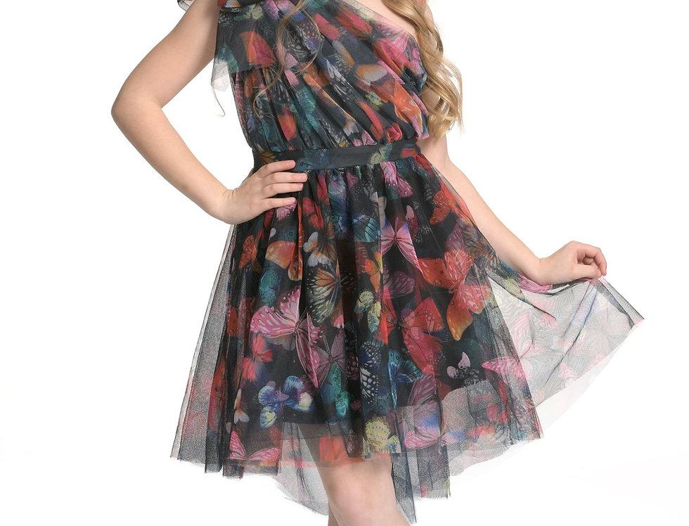 One Shoulder Butterfly Dress