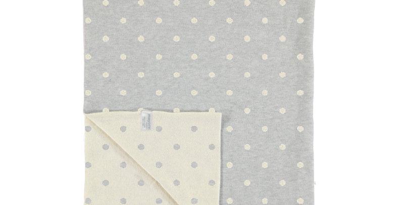 Double Knit Intarsia Dot Blanket