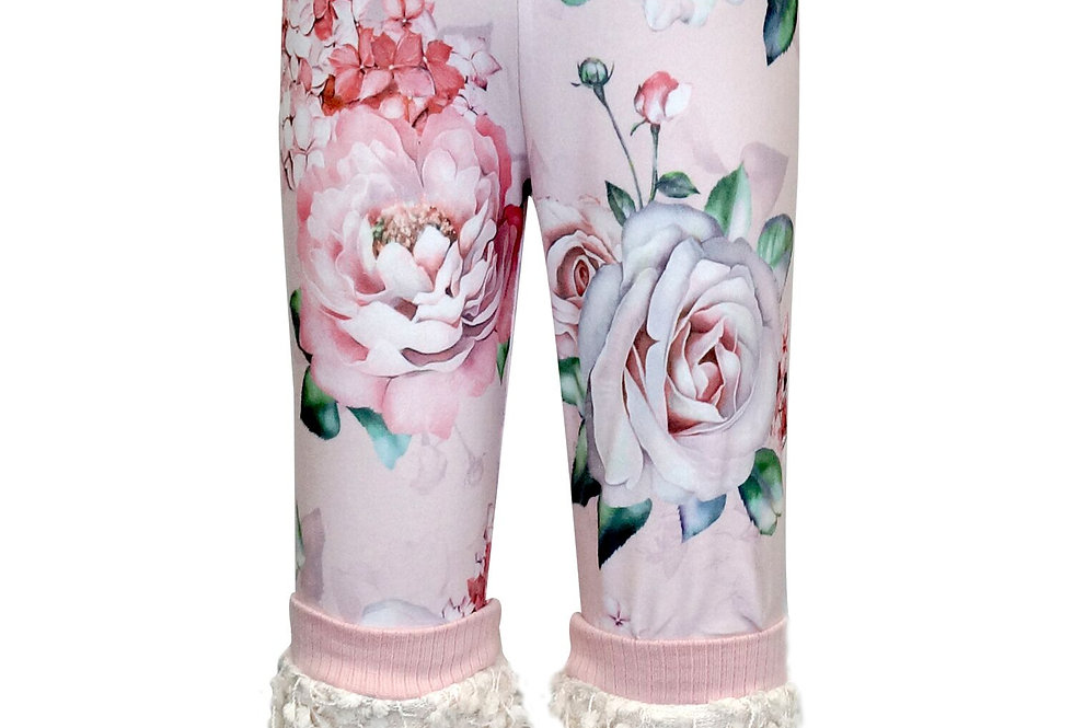 Poodle trim floral legging