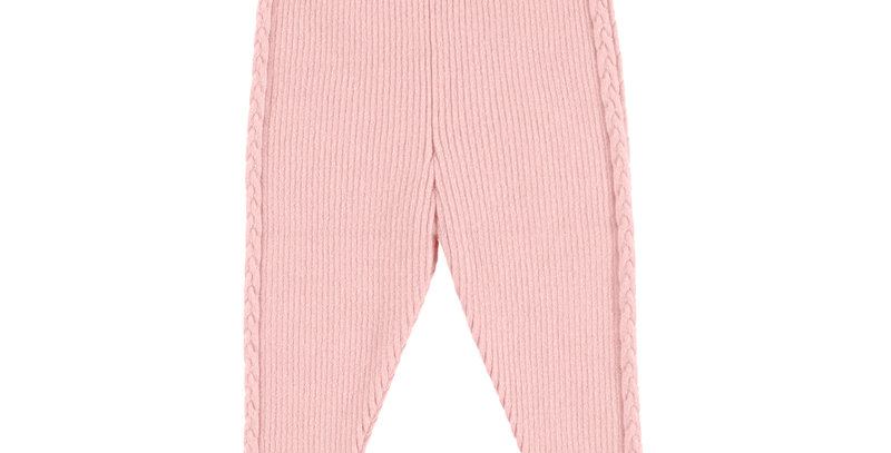 Ribbed legging with side cable detail
