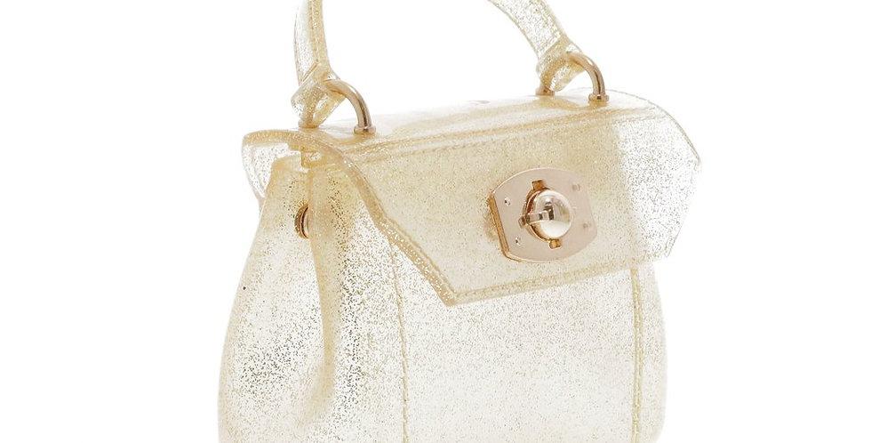 Gold Glitter Jelly Crossbody purse