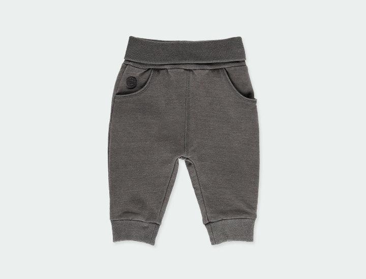 Gray Fleece Distressed Yoga Trouser