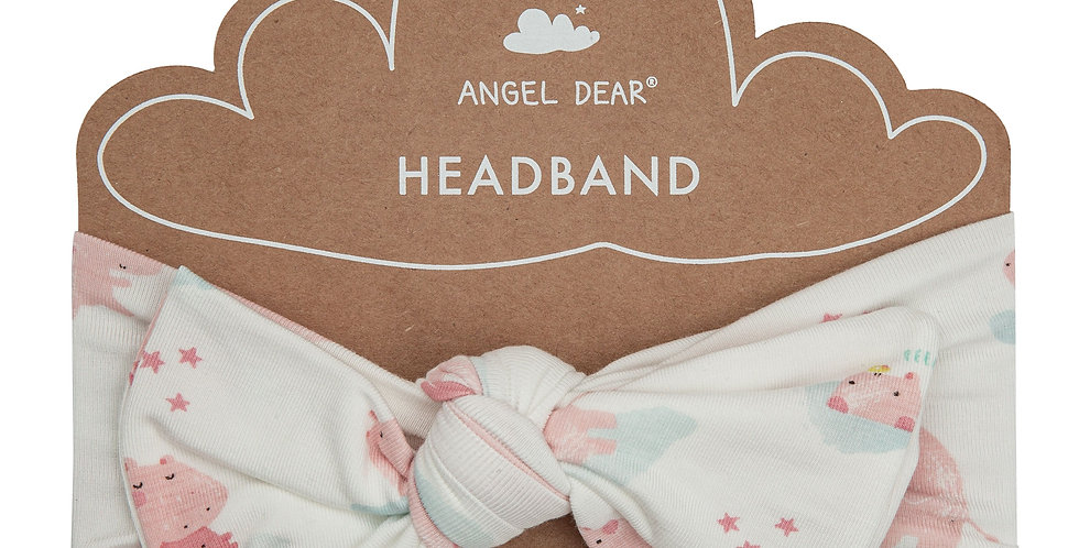 Pink Hippos Headband