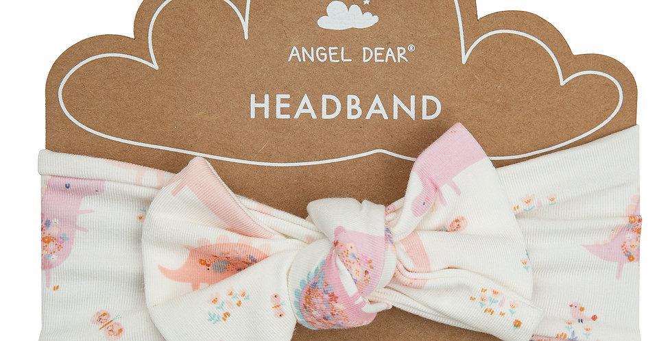 Floral Dinos Bow Headband