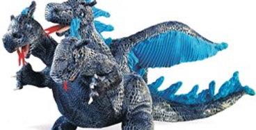 Blue 3 Headed Dragon puppet
