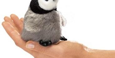 Baby Emperor Penguin finger puppet