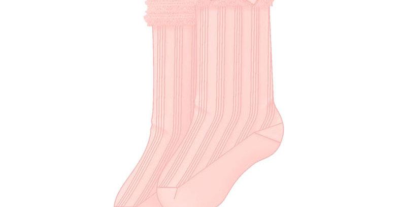 Mid-Length Ruffle Dress Sock