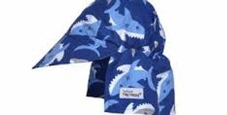 Patterned Microfiber Flap Hat