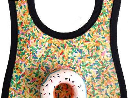 Donut with sprinkles bib