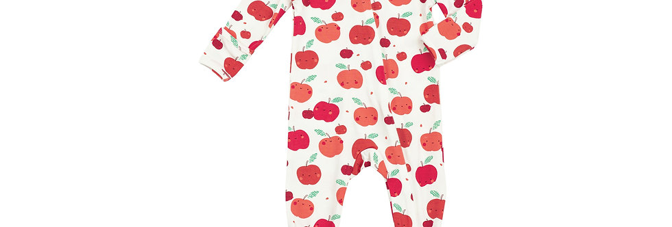 Apple Orchard Zip  Front Romper