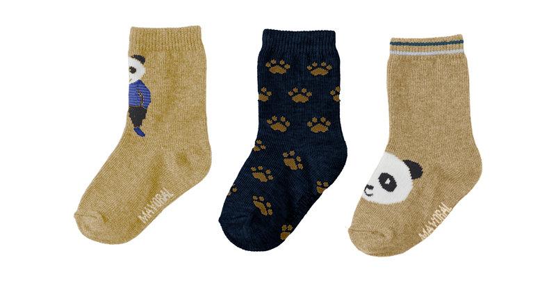 Panda Socks 3-Pack