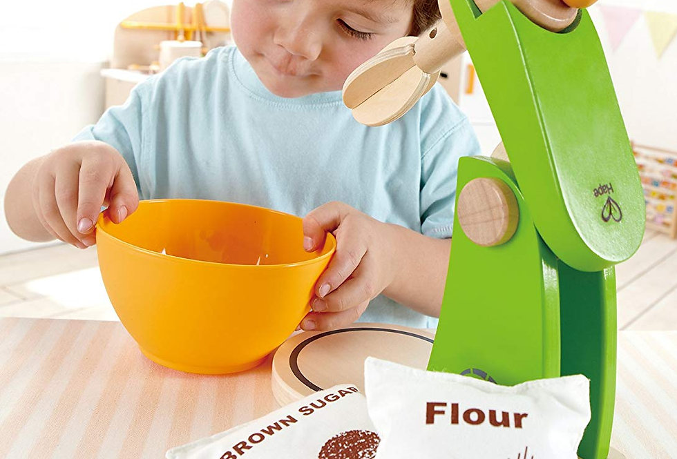 Mixer with baking ingredients