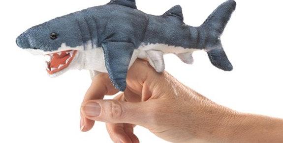 Sharky finger puppet
