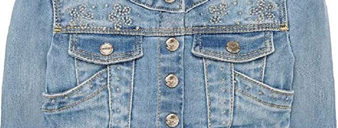 Embellished Denim Jacket Front Pockets