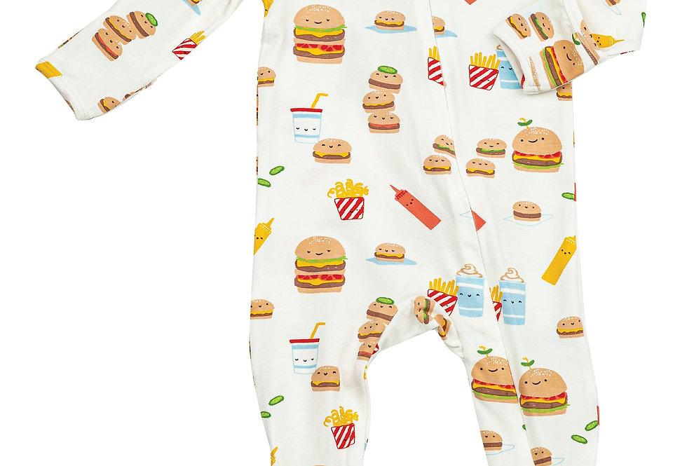 Burger Joint Zipper Footie