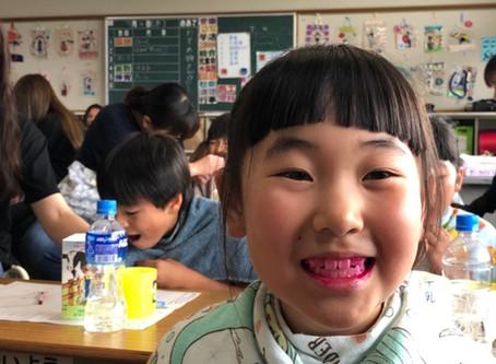 石畳小学校ハミガキ指導