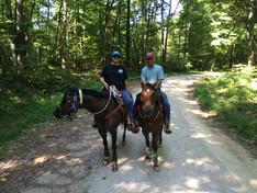 Ben & Tam Trail Riding