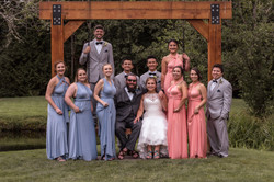 Swinging wedding party Cedar Springs