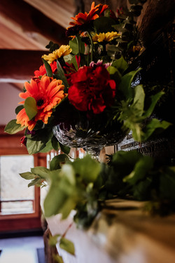 Fall wedding flowers at Island Lake