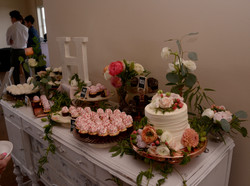 Vintage buffet with desserts