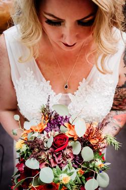 Fall bridal bouquet Island Lake Park