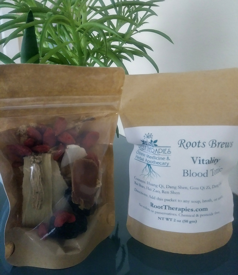 A blend of Chinese herbs that can be added to any bone broth, soup or stock. This blood tonic blend is made up of herbs that nourish the blood to promote health.
