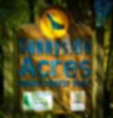 Sign in Sunnyside Acres Urban Forest carpark