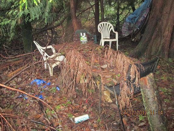 Tent & Tables off 2141 140th St Dec 27 2