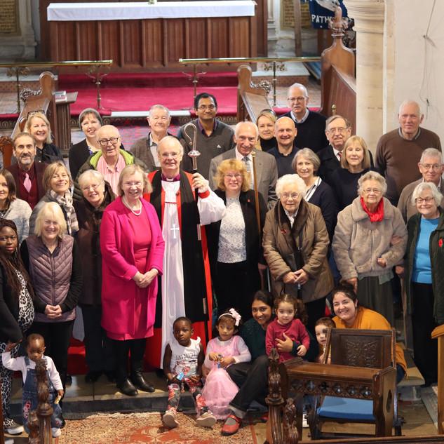 Bishop Richard with his Cranfield flock