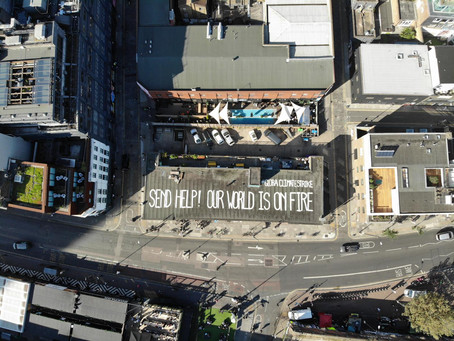 Bridge & Tunnel and Allover support the climate strike with a rooftop plea to the World