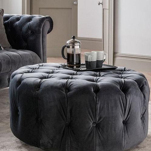 Visage Footstool - Grey