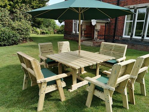 Chatsworth Square Table Set Sits 8