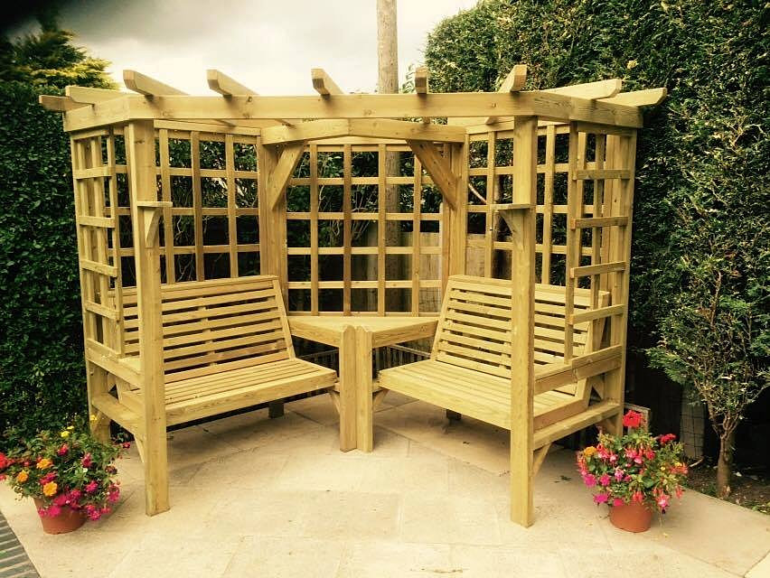 Wooden corner Arbour  Garden Furniture  Staffordshire. Ellis Trading   Home And Garden Furniture   Leek Staffordshire