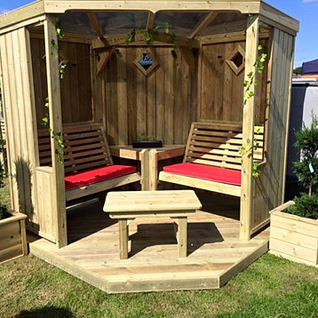Wonderfull Garden room  garden arbour  wooden garden furniture. Ellis Trading   Home And Garden Furniture   Leek Staffordshire