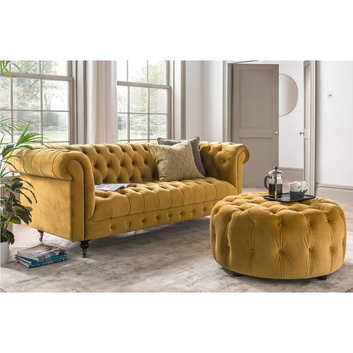 Visage Sofa Sits 3 Mustard